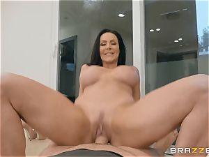 elder black-haired hottie Kendra passion riding boner