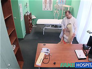 FakeHospital doctor helps ash-blonde get a raw cunt
