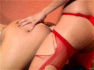 deep-throating lessons with two honies you would dream to nail