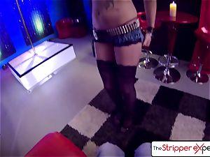 The Stripper practice - Nikki riding a huge rock hard man rod