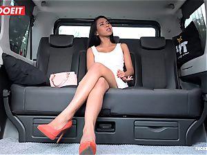 LETSDOEIT - crazy nubile pokes and deep-throats taxi Driver
