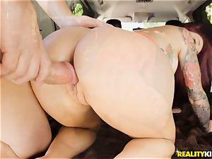 Monique Alexander blows a phat pecker in the car