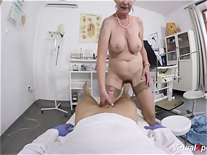chesty grandmother gets point of view porked by her doctor