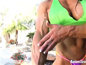 bizarre fit Angel displays us her large fuckbox and pearl