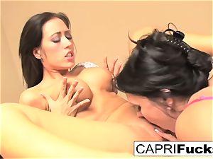 Capri Cavanni and Jessica Jaymes nail