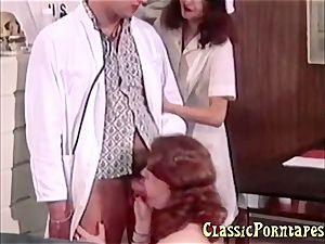 wild doctor pulverizes her patient and her nurse