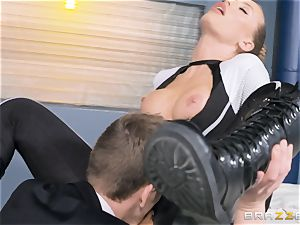 Nicole Aniston gets a facial after a stiff deep drill