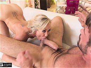 splashing Brandi enjoy enjoys having a spunk-pump in her coochie