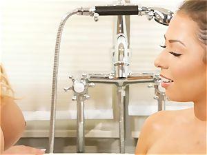 Bathtime all girl honeys Olivia Austin and Melissa Moore