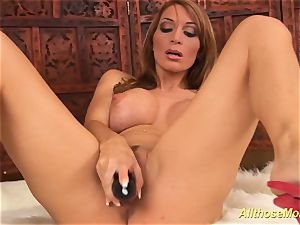 big-chested stepmom alone at home