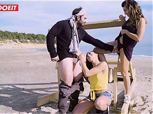 LETSDOEIT - superstars tear up a successful fellow at the Beach