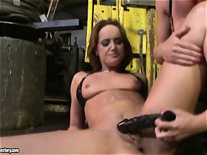 Andy dark-skinned and Kathia Nobili playing with fuck stick