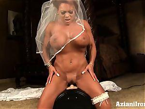 sybian rail on her wedding day