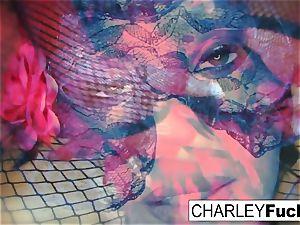 Charley wears some splendid underwear and stocking