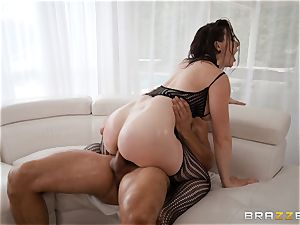 oiling up the honeypot of Chanel Preston and opening up her out