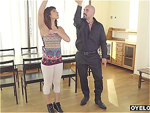 Latina seduced and smashed by schoolteacher
