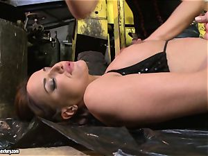 Andy chocolate-colored and Kathia Nobili arse dildoing hard