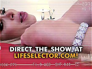 buxomy blondie Nikki Benz in a hard-core point of view episode