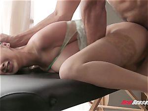 Ashley Adams cuckold roped