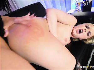 cougar Rachel Starr slurps out nubile stunner Dillion Harper in a unwrap club