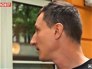 LETSDOEIT - insatiable Traveler drills lucky German In Hostel