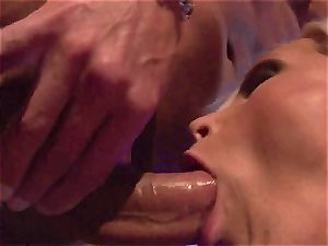 Blazing Nikki Benz plunges her facehole with stiff meatpipe