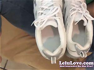 Lelu Love-POV Footjob jizm In Sneakers