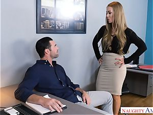 Nicole Aniston plowing at work