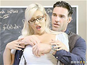 insatiable schoolgirl Kylie Page romps her professor