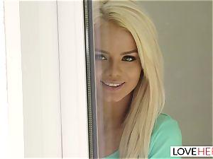 LoveHerFeet - steaming platinum-blonde Gives a super hot sole shag