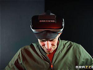 Alessandra Jane monster bone sucking on VR