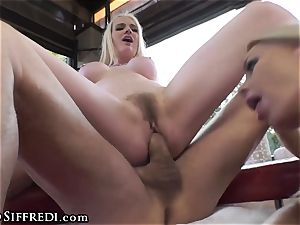 chesty brit taunted by Rocco Siffredi and Kelly Stafford