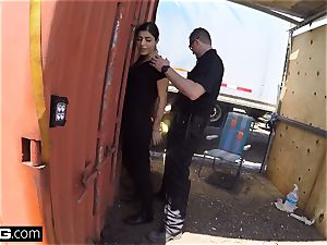 drill the Cops Latina doll caught gargling a cops fuckpole