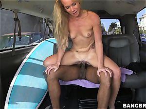 Sunny Stone boinks ebony trunk in the back seat