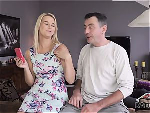 DADDY4K. dad and young dame love rectal orgy near his sleeping sonnie