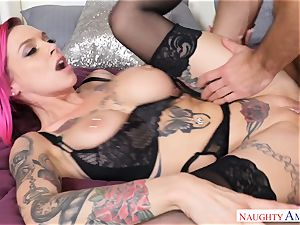 Anna Bell Peaks getting packed in her pussyhole