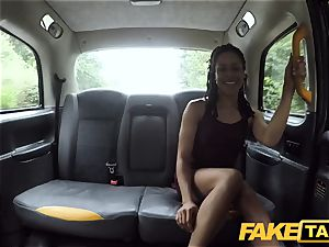 faux cab hasty smashing and creampie for peachy arse