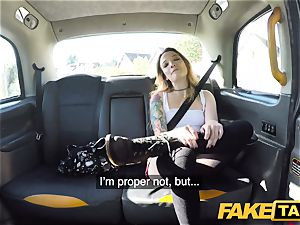 faux taxi diminutive Kylie Nymphette cunt fucked