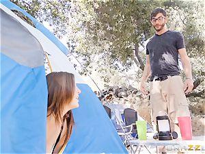 jizzswapping camping bombshells Karlee Grey and Jojo kiss
