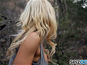 light-haired beauties Sarah Vandella and Alix Lynx pound with masked boy