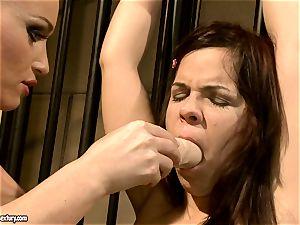Kathia Nobili makes a super-hot honey fellate a fuck stick