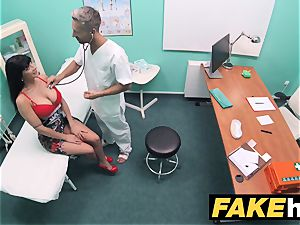 fake clinic toilet room blowjob and boning