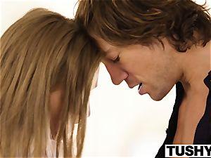 TUSHY big-boobed babe screws her sisters ex boyfriend