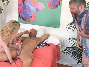 Angel Smalls Has Her spouse gobble jizz Off Her