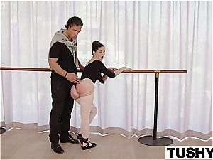 TUSHY youthful Ballerina inspects ass-fuck bang-out with lecturer