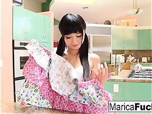 japanese hottie Marica Hase bj's and tears up