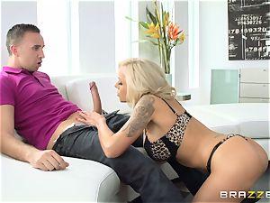 Nina Elle penetrates her sisters stud
