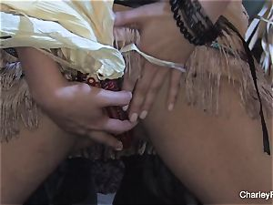 huge-boobed Charley chase is naughty for the harvest
