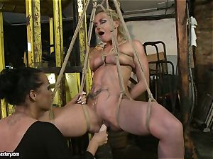Kathia Nobili and Mandy Bright faux-cock boinking firm