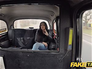 fake cab super-steamy Latina with huge cupcakes and booty
